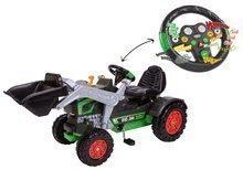 Otroška vozila na pedala - Traktor na pedala bager BIG Jim Turbo z interaktivnim volanom na verižni pogon_3