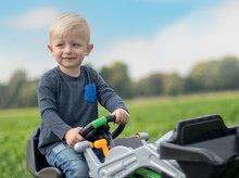 Detské šliapacie vozidlá - Traktor na šliapanie Jimmy BIG s nakladačom a vlečkou zelený_9