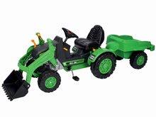 Otroška vozila na pedala - Traktor na pedala Jim Loader BIG z nakladalcem in prikolico zelen_7