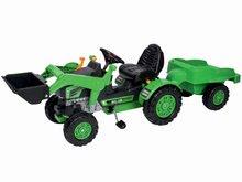 Otroška vozila na pedala - Traktor na pedala Jim Loader BIG z nakladalcem in prikolico zelen_1