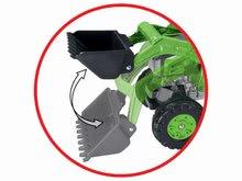 Otroška vozila na pedala - Traktor na pedala Jim Loader BIG z nakladalcem in prikolico zelen_10