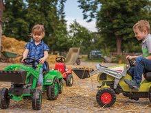 Otroška vozila na pedala - Traktor na pedala Jim Loader BIG z nakladalcem in prikolico zelen_12