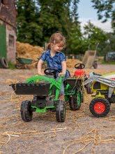 Otroška vozila na pedala - Traktor na pedala Jim Loader BIG z nakladalcem in prikolico zelen_13