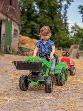 Otroška vozila na pedala - Traktor na pedala Jim Loader BIG z nakladalcem in prikolico zelen_14