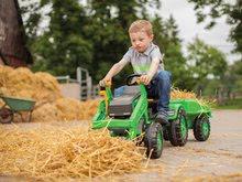 Otroška vozila na pedala - Traktor na pedala Jim Loader BIG z nakladalcem in prikolico zelen_15
