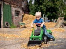 Otroška vozila na pedala - Traktor na pedala Jim Loader BIG z nakladalcem in prikolico zelen_8