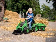 Otroška vozila na pedala - Traktor na pedala Jim Loader BIG z nakladalcem in prikolico zelen_5