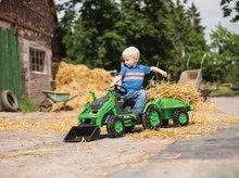 Otroška vozila na pedala - Traktor na pedala Jim Loader BIG z nakladalcem in prikolico zelen_16