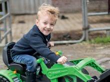 Otroška vozila na pedala - Traktor na pedala Jim Loader BIG z nakladalcem in prikolico zelen_17