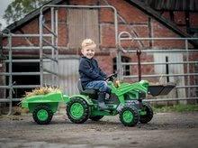 Otroška vozila na pedala - Traktor na pedala Jim Loader BIG z nakladalcem in prikolico zelen_2
