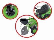 Otroška vozila na pedala - Traktor na pedala Jim Loader BIG z nakladalcem in prikolico zelen_3