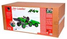 Otroška vozila na pedala - Traktor na pedala Jim Loader BIG z nakladalcem in prikolico zelen_23