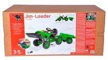 Otroška vozila na pedala - Traktor na pedala Jim Loader BIG z nakladalcem in prikolico zelen_24