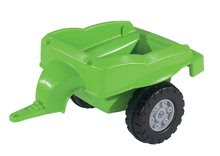 Detské šliapacie vozidlá - Traktor na šliapanie Jimmy BIG s nakladačom a vlečkou zelený_4