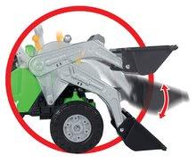Detské šliapacie vozidlá - Traktor na šliapanie Jimmy BIG s nakladačom a vlečkou zelený_7