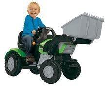 Gyermek traktor John XL BIG homlokrakodóval zöld