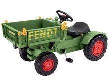 Gyermek pedálos traktor Fendt BIG billenős platóval és dudával zöld