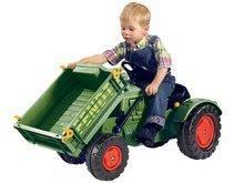 Detské šliapacie vozidlá - Traktor na šliapanie Fendt BIG s vyklápačkou a klaksónom zelený_1