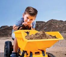 Otroška vozila na pedala - Traktor s sprednjim zabojem Jim Dumper BIG s premičnimi deli, na verižni pogon_2