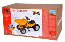 Otroška vozila na pedala - Traktor s sprednjim zabojem Jim Dumper BIG s premičnimi deli, na verižni pogon_3