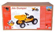 Otroška vozila na pedala - Traktor s sprednjim zabojem Jim Dumper BIG s premičnimi deli, na verižni pogon_4