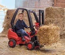 Detské šliapacie vozidlá - Vysokozdvižný vozík na šliapanie Linde BIG s paletou červeno-čierny_0