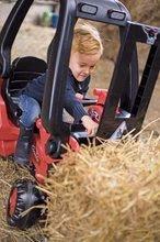 Detské šliapacie vozidlá - Vysokozdvižný vozík na šliapanie Linde BIG s paletou červeno-čierny_1