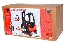 Detské šliapacie vozidlá - Vysokozdvižný vozík na šliapanie Linde BIG s paletou červeno-čierny_9