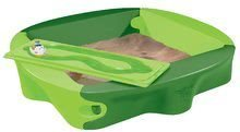 Pieskoviská pre deti - Pieskovisko s vodnou dráhou Sandy BIG s krytom objem 239 litrov 138*138 cm zelené od 12 mes_1