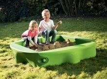 Pieskoviská pre deti - Pieskovisko s vodnou dráhou Sandy BIG s krytom objem 239 litrov 138*138 cm zelené od 12 mes_0