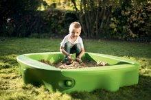 Pieskoviská pre deti - Pieskovisko s vodnou dráhou Sandy BIG s krytom objem 239 litrov 138*138 cm zelené od 12 mes_6