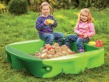 Pieskoviská pre deti - Pieskovisko s vodnou dráhou Sandy BIG s krytom objem 239 litrov 138*138 cm zelené od 12 mes_3