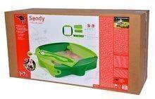 Pieskoviská pre deti - Pieskovisko s vodnou dráhou Sandy BIG s krytom objem 239 litrov 138*138 cm zelené od 12 mes_14