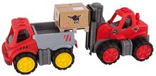 Stavebné stroje - Vysokozdvižný vozík Power BIG veľký dĺžka 42 cm červený od 24 mes_2
