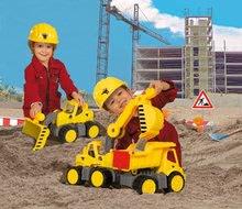 Stavebné stroje - Bager Power BIG veľký pracovný stroj dĺžka 67 cm žltý od 24 mes_11