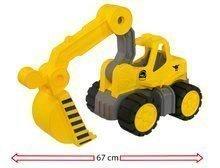 Stavebné stroje - Bager Power BIG veľký pracovný stroj dĺžka 67 cm žltý od 24 mes_3