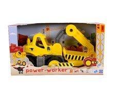 Stavebné stroje - Bager Power BIG veľký pracovný stroj dĺžka 67 cm žltý od 24 mes_6