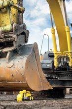 Stavebné stroje - Bager Power BIG veľký pracovný stroj dĺžka 67 cm žltý od 24 mes_8