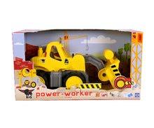 Stavebné stroje - Nakladač Power BIG pracovný stroj dĺžka 47 cm žltý od 24 mes_6