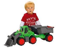 Poľnohospodárske stroje - Traktor Power BIG s nakladačom a prívesom dĺžka 66 cm zelený od 24 mes_4