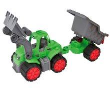 Poľnohospodárske stroje - Traktor Power BIG s nakladačom a prívesom dĺžka 66 cm zelený od 24 mes_3
