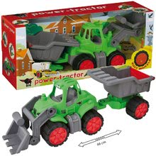Poľnohospodárske stroje - Traktor Power BIG s nakladačom a prívesom dĺžka 66 cm zelený od 24 mes_2