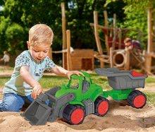 Poľnohospodárske stroje - Traktor Power BIG s nakladačom a prívesom dĺžka 66 cm zelený od 24 mes_1