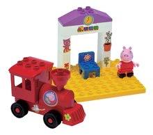 Stavebnice BIG-Bloxx ako lego - Stavebnica Peppa Pig na nástupišti PlayBIG Bloxx BIG s 1 figúrkou 15 dielov od 1,5-5 rokov_0