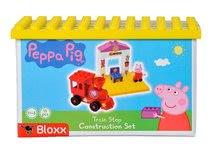 Stavebnice BIG-Bloxx ako lego - Stavebnica Peppa Pig na nástupišti PlayBIG Bloxx BIG s 1 figúrkou 15 dielov od 1,5-5 rokov_3