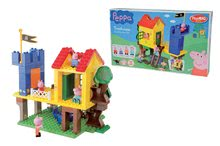 Joc de construit Peppa Pig în casă din copac PlayBIG Bloxx BIG cu 4 figurine 94 de piese