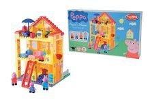 Detská stavebnica Peppa Pig rodinka v domčeku PlayBIG Bloxx BIG so 4 figúrkami 107 dielov od 1,5-5 rokov