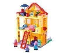 Joc de construit Peppa Pig familie în casă PlayBIG Bloxx BIG cu 4 figurine 107 piese