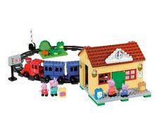 Stavebnice BIG-Bloxx ako lego - Stavebnica Peppa Pig na železničnej stanici PlayBIG Bloxx BIG so 4 figúrkami 95 dielov od 1,5-5 rokov_0
