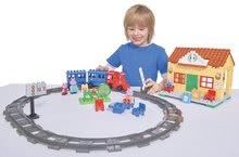 Stavebnice BIG-Bloxx ako lego - Stavebnica Peppa Pig na železničnej stanici PlayBIG Bloxx BIG so 4 figúrkami 95 dielov od 1,5-5 rokov_1